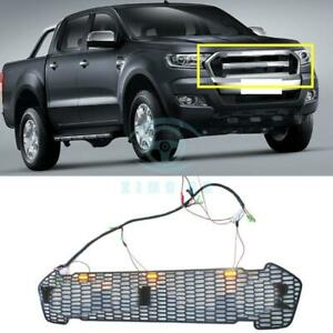 For Ford Ranger T6 2015 16 1pc Black Front Grille Vent Replace With Yellow Led