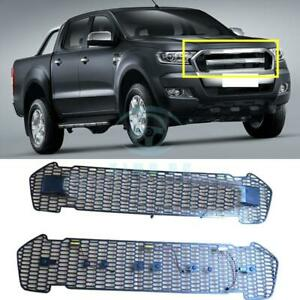 For Ford Ranger T6 2015 2016 Black Front Grille Vent Replace With Yellow Led