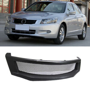 Matte Black Resin Front Grille Modified For Honda Accord 8th 2008 2010