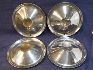 Set Of 4 Studebaker 1953 1954 Accessory Wheel Covers Hubcaps Tristar Ac 2314