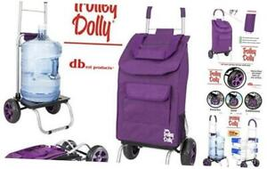 Dbest Products Trolley Dolly Purple Shopping Grocery Foldable Cart
