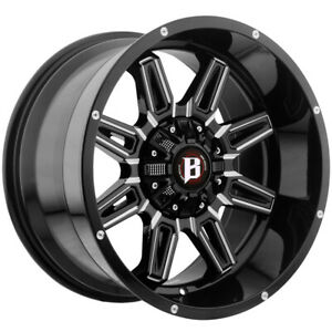 4 ballistic 965 Catapult 20x10 6x135 6x5 5 19 Black milled Wheels Rims 20 Inch