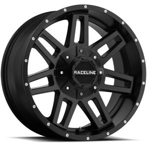 4 17 Inch Raceline 931b Injector 17x8 5 6x120 6x5 5 18 Satin Black Wheels Rims