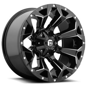 5 Fuel D576 Assault 17x9 5x4 5 5x5 1mm Black Milled Wheels Rims 17 Inch Jk Jl