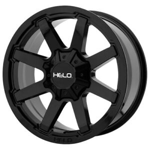 4 Helo He909 17x9 6x120 6x5 5 18mm Gloss Black Wheels Rims 17 Inch