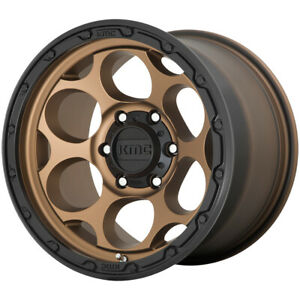 4 Kmc Km541 Dirty Harry 17x8 5 6x135 18mm Bronze Wheels Rims 17 Inch