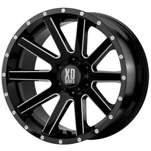 4 Xd Series Xd818 Heist 17x9 6x5 5 30mm Black Milled Wheels Rims 17 Inch