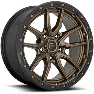 5 Fuel D681 Rebel 17x9 5x5 1mm Bronze Black Wheels Rims 17 Inch Jeep Jk Jl