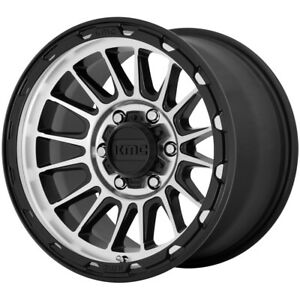 4 Kmc Km542 Impact 17x9 5x5 18mm Black Machined Wheels Rims 17 Inch