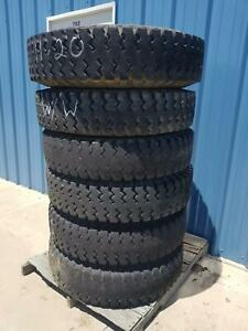 Used Set Of 6 Military 1100 20 Jk Tyre jet King Tire On Wheel
