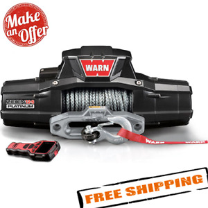 Warn 95960 Zeon 12 S Platinum 12v Electric Winch With Spydura Synthetic Rope