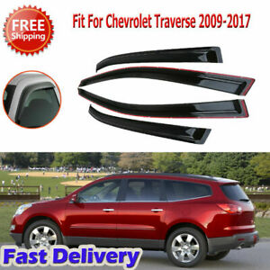 For Chevrolet Traverse 2009 2017 Window Visor Vent Rain Guard Sun Shade Trim