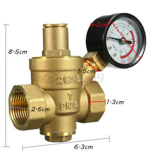 Dn20 3 4 Pn1 6 Adjustable Brass Water Pressure Reducing Regulator W Gauge