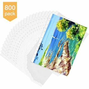 800 Pack Sheet Protectors 11 Holes Lightweight Clear Plastic Page Top Load 8 5