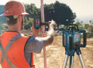 Bosch Gl250 Hvck Rotary Laser Level Kit 1000 Feet