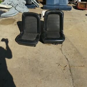 1965 1966 Mustang Bucket Seat Set Left And Right Seats Oem Used Black