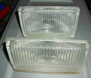 2 Vintage Fog Lamps Clear Driving Light Housing Bosch Halogen 8352 r19