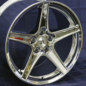 18 Chrome Mustang Saleen Style Wheels 18x9 18x10 5x114 3 Staggered Sn95 94 04