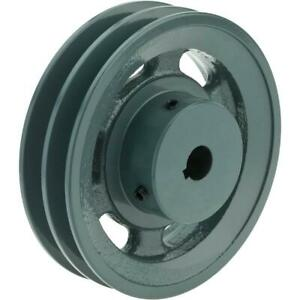 Grizzly G6272 Double V groove Pulley 5 Pitch Dia 5 8 Bore