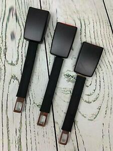3 Pack Rigid 7in Seat Belt Extending Accessory Irregular Type B 1in Tongue Wid