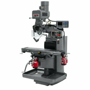 Jet 690626 Jtm 1050evs2 230 Mill W 3 axis Acu rite 200s Dro knee W X Y axi