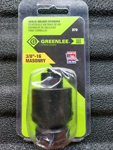Greenlee 870 Hollow Wall Set Tool Screw Anchor Expander 3 8 16