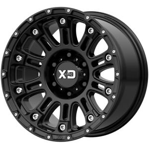 4 xd Series Xd829 Hoss 2 17x9 5x5 12mm Gloss Black Wheels Rims 17 Inch