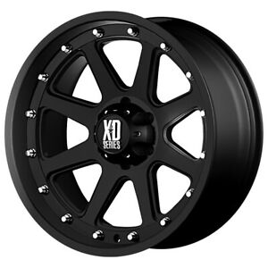 4 xd Series Xd798 Addict 17x9 5x5 12mm Matte Black Wheels Rims 17 Inch