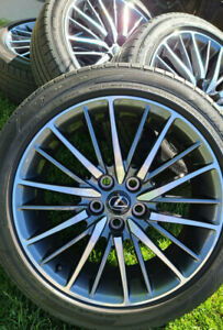 Lexus Oem F Sport 19 Wheels Tires Excellent Condition 5x120 8jx19 Set