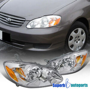 For 2003 2008 Toyota Corolla Diamond Headlights Head Lamps Replacement