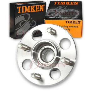 Timken Rear Wheel Bearing Hub Assembly For 1986 1987 Honda Wagovan Left Ie