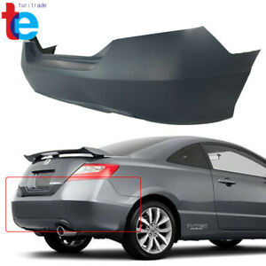 For 2006 2011 Honda Civic Coupe Primed Rear Bumper Cover