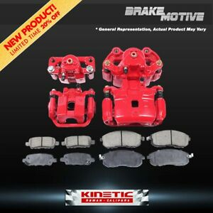 For Bmw M3 M5 Z3 Front And Rear Red Brake Calipers And Ceramic Brake Pads