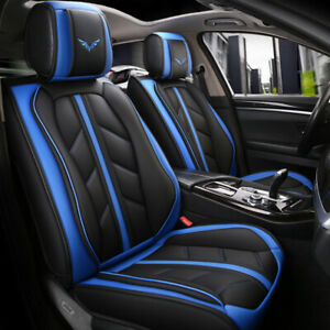 5d Car Seat Covers Protector Full Set Universal Leather Adjustable Bench Cover