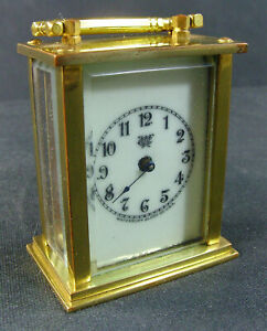 Antique Waterbury Miniature Mechanical Carriage Clock For Parts Or Repair