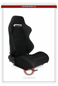 Cipher Cpa 1013 Black Cloth With Red Stiching Racing Seats