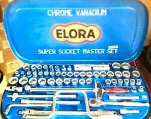 Elora 1 2 Square Drive Metric Whitworth af Socket Set Lsmnt Made In Germany
