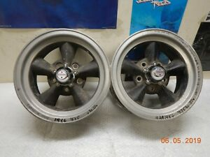 Pair Vintage American Racing 14x6 Torq thrust Wheels 5 On 4 3 4 Chevy Camaro Ss