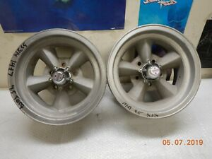 Used 14x7 Torq Thrust Wheels 5 On 4 1 2 Plymouth Van Ford Mustang Mopar Dodge