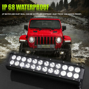 Dual Row 30inch Led Light Bar Combo Spot Flood Offroad For Jeep Ford Driving Fog
