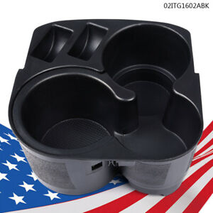 For 07 12 Nissan Altima Black Center Console Cup Holder W Insert Drink New