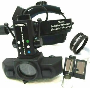 Free Shipping New Indirect Ophthalmoscope With 20 D Lens Accessories Carry Bag