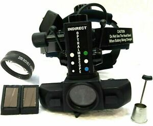 Brand New Rechargeable Indirect Ophthalmoscope With 20 D Lens Accessories