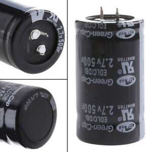 Super Farad Capacitor 2 7v 500f 35x60mm Automobile Bottom With 2 Feet