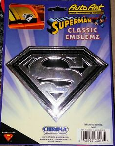 Emblemz Superman Classic Chrome Vinyl Decal