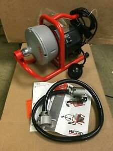New Ridgid 71722 K 40 Af Sink Machine With 5 16 Cable And Autofeed System