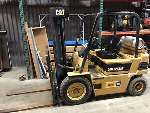 Caterpillar V50e Forklift Used Great Condution Lp 4 500 Pound