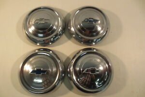 1951 1952 1953 Chevy Chevrolet Hub Caps 10 Wheel Covers Dog Dish 1950 S Vintage