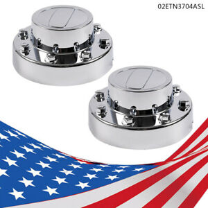 Rear Center Cap Pair Fit 2011 2018 Dodge Ram 3500 Dually 1 ton Truck Alcoa Wheel