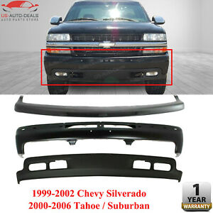 Front Bumper Face Bar Trim Lowr Air Deflector For 99 02 Chevy Tahoe Suburban